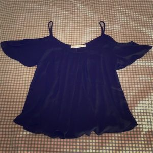 NWT Lush black cold-shoulder top, size xs